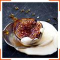 Инжир-гриль со сметаной и каштановым медом