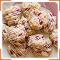 Клубничное песочное печенье
