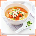 Суп місо з куркою та рисом