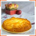 Яблучний пиріг з персиковою глазур'ю