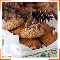Овсяно-ореховое печенье с вишней