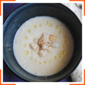 Крем-суп с цветной капустой и морскими гребешками