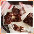 Шоколадные пирожные с миндальной начинкой
