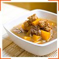 Суп зі сквошем і яловичиною