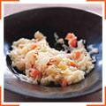 Кремовый рис с пастернаком и корнеплодами
