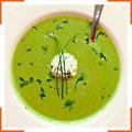 Спаржевый суп и козий сыр с травами