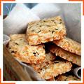Песочное печенье с тимьяном и пармезаном