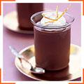 Шоколадно-апельсиновый кремовый десерт с засахаренной апельсиновой цедрой