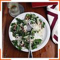 Салат с панчеттой и петрушкой