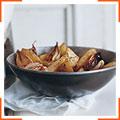 Печена картопля з цибулею