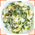 Паста с зелеными овощами и лимоном