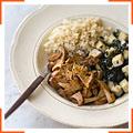 Рис с грибами, приправленный шичими тогараши