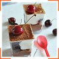 Шоколадно-вишневые веррины с ромом и сливочным муссом