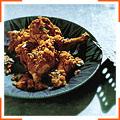 Куриный тажин с абрикосами и острыми кедровыми орешками