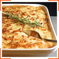 Картофельная запеканка с мясным фаршем, луком и сыром