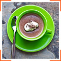 Шоколадный крем-десерт со сливками
