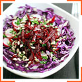 Салат из краснокочанной капусты, свеклы и редиса