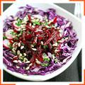 Салат з червонокачанної капусти, буряка й редису