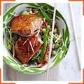 Лосоль-гриль с соусом терияки и рис с кунжутным маслом
