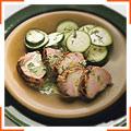 Свиная вырезка на гриле с горчично-укропным соусом