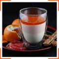 Ванильно-апельсиновая панна кота с карамельным соусом
