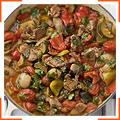 Овощи с ягнятиной по-средиземноморски