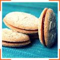 Печенье с джемом и миндалем
