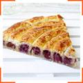 Пирог с краснокочанной капустой, яблоками и изюмом