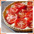 Пирог с помидорами и козьим сыром