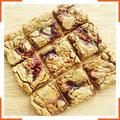 Печенье с арахисовым маслом и клубничным джемом