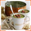 Гороховий суп з панчеттою і м'ятою