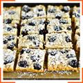 Песочное печенье с ежевикой и миндалем