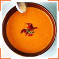 Суп-пюре з запечених помідорів і болгарського перцю