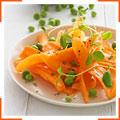 Морковный салат с зеленым горошком и мятой
