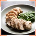 Мини-колбаски из отварного куриного мяса