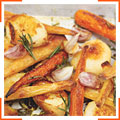 Запеченный картофель с пастернаком и морковью