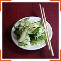 Салат из имбиря и огурцов