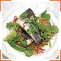 Сибас по-тайски с рисом
