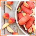 Клубнично-персиковое мороженое с водкой