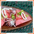 Салат з кавуном і кальмарами