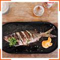 Рыба, приготовленная на гриле, с мандаринами и майораном