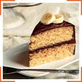 Банановий торт у шоколадній глазурі