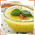 Пряний суп з дині з прошутто