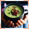 Гороховый крем-суп с беконом
